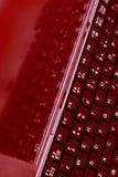 ο υπολογιστής πληκτρολογεί την οθόνη λεπτή Στοκ φωτογραφία με δικαίωμα ελεύθερης χρήσης