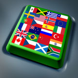 ο υπολογιστής σημαιοσ& Στοκ φωτογραφία με δικαίωμα ελεύθερης χρήσης