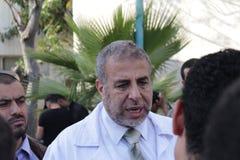 Ο υπουργός Υγείας στη Γάζα Στοκ φωτογραφίες με δικαίωμα ελεύθερης χρήσης