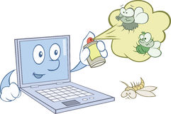 Ο υπολογιστής προστατεύει από τους ιούς απεικόνιση αποθεμάτων