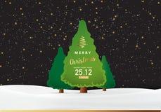 ο υπολογιστής Χριστουγέννων ανασκόπησης παρήγαγε το ευτυχές εύθυμο νέο διανυσματικό έτος εικόνας Στοκ εικόνα με δικαίωμα ελεύθερης χρήσης