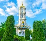 Ο υψηλός πύργος κουδουνιών Pochayiv Lavra Στοκ εικόνες με δικαίωμα ελεύθερης χρήσης