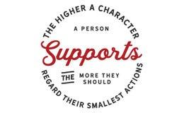 Ο υψηλότερος χαρακτήρας ένα πρόσωπο υποστηρίζει ελεύθερη απεικόνιση δικαιώματος