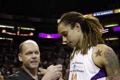 Ο υδράργυρος WNBA Phoenix κερδίζει στοκ φωτογραφία