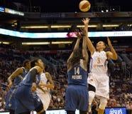 Ο υδράργυρος WNBA Phoenix κτυπά τα λυγξ Μινεσότας Στοκ Εικόνα