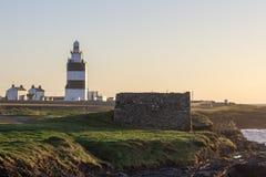 Ο φάρος γάντζων στη νότια ακτή της Ιρλανδίας είναι παλαιότερος ο λειτουργικός στον κόσμο στοκ φωτογραφία με δικαίωμα ελεύθερης χρήσης