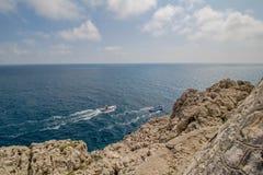 Ο φάρος Faro Di Punta Carena στο νησί Capri, Ιταλία στοκ εικόνα με δικαίωμα ελεύθερης χρήσης