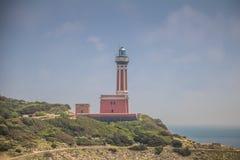 Ο φάρος Faro Di Punta Carena στο νησί Capri, Ιταλία στοκ φωτογραφίες με δικαίωμα ελεύθερης χρήσης