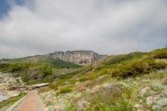 Ο φάρος Faro Di Punta Carena στο νησί Capri, Ιταλία στοκ φωτογραφία