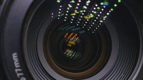 Ο φακός της κάμερας Κινηματογράφηση σε πρώτο πλάνο φιλμ μικρού μήκους