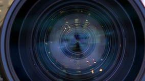 Ο φακός της κάμερας απόθεμα βίντεο