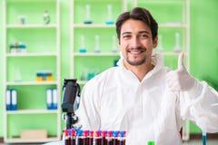 Ο φαρμακοποιός που εργάζεται στο εργαστήριο στο νέο πείραμα Στοκ εικόνες με δικαίωμα ελεύθερης χρήσης