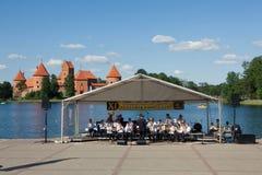 11ο φεστιβάλ των ορχηστρών πνευστ0ών από χαλκό Στοκ Εικόνες