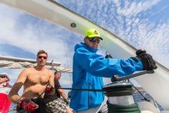 16ο φθινόπωρο 2016 Ellada regatta ναυσιπλοΐας μεταξύ της ελληνικής ομάδας νησιών στο Αιγαίο πέλαγος, στις Κυκλάδες και το Σαρωνικ Στοκ Φωτογραφία