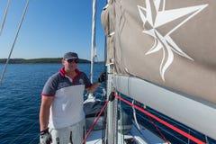 16ο φθινόπωρο 2016 Ellada regatta ναυσιπλοΐας μεταξύ της ελληνικής ομάδας νησιών στο Αιγαίο πέλαγος Στοκ Φωτογραφίες