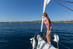 16ο φθινόπωρο 2016 Ellada regatta ναυσιπλοΐας μεταξύ της ελληνικής ομάδας νησιών στο Αιγαίο πέλαγος Στοκ Εικόνα