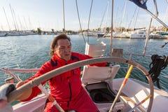 16ο φθινόπωρο 2016 Ellada regatta ναυσιπλοΐας μεταξύ της ελληνικής ομάδας νησιών στο Αιγαίο πέλαγος Στοκ φωτογραφίες με δικαίωμα ελεύθερης χρήσης