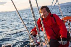 16ο φθινόπωρο 2016 Ellada regatta ναυσιπλοΐας μεταξύ της ελληνικής ομάδας νησιών στο Αιγαίο πέλαγος Στοκ Εικόνες