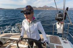 16ο φθινόπωρο 2016 Ellada regatta ναυσιπλοΐας μεταξύ της ελληνικής ομάδας νησιών στο Αιγαίο πέλαγος, στις Κυκλάδες και το Σαρωνικ Στοκ Εικόνες