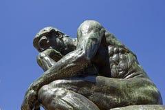 Ο φιλόσοφος από Rodin Στοκ φωτογραφίες με δικαίωμα ελεύθερης χρήσης
