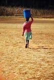 Ο φορέας νερού - Pomerini - Τανζανία - Αφρική Στοκ Εικόνες