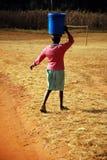 Ο φορέας νερού - Pomerini - Τανζανία - Αφρική Στοκ Φωτογραφίες