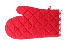 Ο φούρνος φορά γάντια στο κόκκινο Στοκ Εικόνα