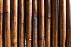 Ο φράκτης μπαμπού, κλείνει επάνω Στοκ Φωτογραφία