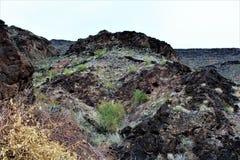 Ο φραγμός ερήμων, Parker, Αριζόνα, Ηνωμένες Πολιτείες Στοκ Εικόνα