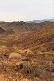 Ο φραγμός ερήμων, Parker, Αριζόνα, Ηνωμένες Πολιτείες Στοκ Εικόνες