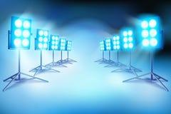 Ο φωτισμός σε ένα σύνολο ταινιών επίσης corel σύρετε το διάνυσμα απεικόνισης Στοκ εικόνες με δικαίωμα ελεύθερης χρήσης