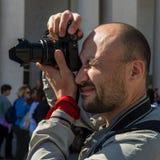 Ο φωτογράφος παίρνει ένα γεγονός Στοκ Εικόνες
