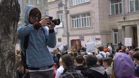 Ο φωτογράφος παίρνει μια επίδειξη απόθεμα βίντεο