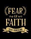 Ο φόβος ή η πίστη εσείς επιλέγει διανυσματική απεικόνιση