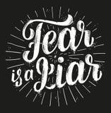 Ο φόβος είναι ψεύτης απεικόνιση αποθεμάτων