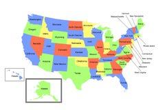 ο χάρτης δηλώνει ενωμένο στοκ φωτογραφία με δικαίωμα ελεύθερης χρήσης