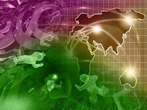 Ο χάρτης και επανδρώνει απεικόνιση αποθεμάτων