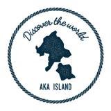 Ο χάρτης νησιών Aka στον τρύγο ανακαλύπτει τον κόσμο Απεικόνιση αποθεμάτων