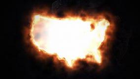 ο χάρτης της Αμερικής δηλώνει ενωμένο διανυσματική απεικόνιση