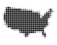 ο χάρτης της Αμερικής δηλώ&n Στοκ εικόνες με δικαίωμα ελεύθερης χρήσης