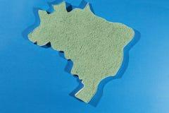 Ο χάρτης της Βραζιλίας διανυσματική απεικόνιση