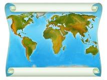 Ο χάρτης του κόσμου - απεικόνιση για τα παιδιά Στοκ Φωτογραφία