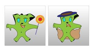 Ο χαρακτήρας έχει ένα φάντασμα στοκ εικόνες με δικαίωμα ελεύθερης χρήσης