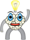 ο χαρακτήρας εγκεφάλου έρχεται ιδέα Στοκ εικόνα με δικαίωμα ελεύθερης χρήσης