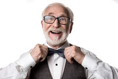 Ο χαρωπός συνταξιούχος επάνω στοκ εικόνες με δικαίωμα ελεύθερης χρήσης