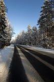 Ο χειμερινός δρόμος στοκ εικόνα με δικαίωμα ελεύθερης χρήσης