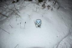 Ο χειμώνας έρχεται, παιχνίδι του φινάλε θρόνων, εποχή 8 στοκ εικόνες με δικαίωμα ελεύθερης χρήσης