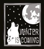 Ο χειμώνας είναι ερχόμενο σχέδιο για την μπλούζα διανυσματική απεικόνιση