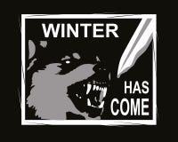 Ο χειμώνας είναι ερχόμενο σχέδιο για την μπλούζα Στοκ Εικόνες