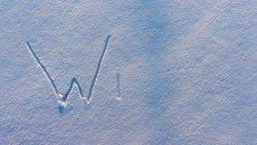 Ο χειμώνας λέξης εμφανίζεται στο χιόνι φιλμ μικρού μήκους